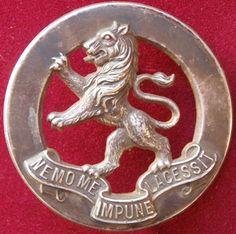 5th Battalion (Victorian Scottish Regiment) - Whitemetal Hat Badge.