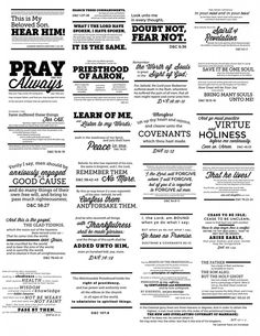 All 25 D&C scripture mastery verses on One Page