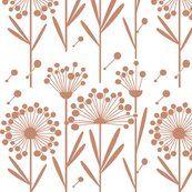 fabric ($18/yard) autumn dandelions mauve white