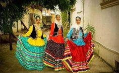 Gilaki Women in their colorful traditional Dresses.