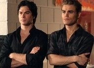 Damon e Stefan The Vampire Diaries, Vampire Diaries Seasons, Vampire Diaries The Originals, Cw Series, Best Series, Damon E Stefan, The Salvatore Brothers, Vampire Daries, Hello Brother