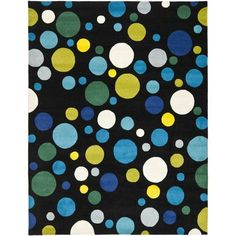 "Safavieh Soho Black/Blue Area Rug Rug Size: 9'6"" x 13'6"""