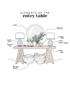 how to perfectly style an entry way + entry table // home decor ideas entry way. how to perfectly style an entry way + entry table // home decor ideas entry way + foyer ideas // h Foyer Design, Deco Design, House Design, Entry Way Design, Design Design, Design Ideas, Home Decor Styles, Cheap Home Decor, Affordable Home Decor