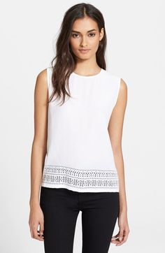 Equipment 'Reagan' Geo Laser Cut Silk Blouse available at #Nordstrom