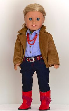 American Girl Southwest Style Jeans Barn Jacket by Simply18Inches