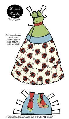 Marisole Monday's Qi Lolita Inspired Fantasy Paper Doll Dress