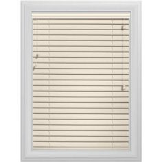 Bali Essentials 2 inch Faux Wood Blind, Corded, Coconut, Brown