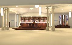 www.PAiKZ.com Interior design of the Holy Trinity Church Lyon France