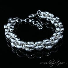 Alloy + 925 Sterling Silver + High Quality Polishing + Durable Colour Protector Lobster claw clasp 4cm extension chain  * Size: Adjustable length  * Measurements : 19cm  * Weight (g): 41 * ATBR018-1 * www.i-delight.com