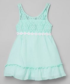 Look what I found on #zulily! Mint Lace Daisy Dress - Infant, Toddler & Girls by Limited Too #zulilyfinds