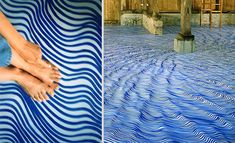 """silentgiantla: """"Artist Uses Permanent Markers To Draw Dizzy Patterns, Fill White Spaces Germany-based artist Heike Weber uses permanent markers to fill empty white spaces of walls, floors and ceilings. Deco Restaurant, Old Abandoned Buildings, Doors And Floors, Wall Drawing, Marker Art, Marker Drawings, Illusion Art, White Space, Permanent Marker"""