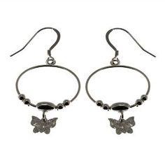 Anneaux papillons en Argent fin - Boucles d'oreilles uniques: ShalinCraft: Amazon.fr: Bijoux
