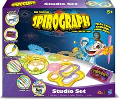 The Original Spirograph New Generation - Muñeca (Hasbro Original Spirograph, Fisher, Competitions Uk, How To Make Drawing, 3d Studio, Kids Branding, Bag Storage, Playroom, 3 D