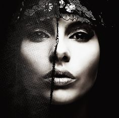 Nicholas Javed Photography #bw #face #closeup #net #veil #dark