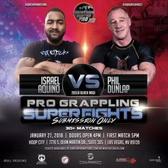 Age Defying Submission Grappling Match to Pit 54-year old Las Vegas Resident Phil Dunlap Against Professional Fighter Tiki Aquino