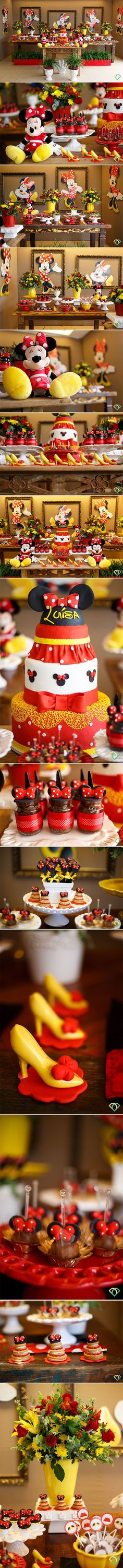 44 Trendy Ideas For Baby Shower Ides Minnie Mouse Theme Minnie Mouse Decorations, Minnie Mouse Theme, Mickey Mouse Parties, Mickey Party, Mickey Mouse Clubhouse, Mickey Mouse Birthday, Baby Party, Baby Shower, Minne