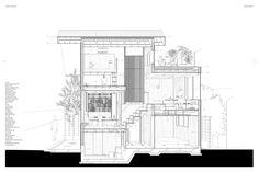 Section through Tread Machiya, Atelier Bow-Wow