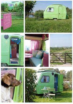 sweet little green camper