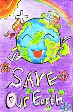 Poster On Save Earth Idea Painting Mother Earth Drawing, Save Earth Drawing, Global Warming Drawing, Global Warming Poster, Planet Drawing, Earth Drawings, Save Planet Earth, Save Our Earth, Save Mother Earth Poster