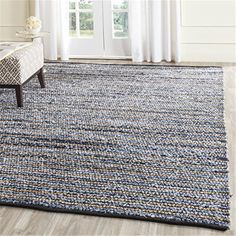New Rug Collections CAP363A-6 - $32.28   OJCommerce Seagrass Rug, Jute Rug, Natural Fiber Rugs, Natural Rug, Cape Cod, Striped Rug, Blue Area Rugs, Colorful Rugs, Hand Weaving