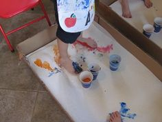 Footprint painting