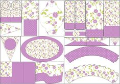 Purple Flower: Free Party Printables.