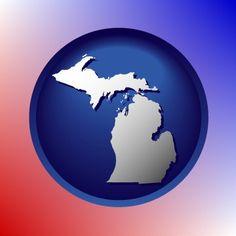 Wonderful Michigan map icon.