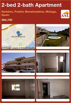 2-bed 2-bath Apartment in Nadales, Pueblo Benalmadena, Malaga, Spain ►€84,700 #PropertyForSaleInSpain
