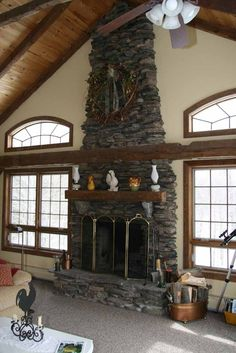 Recover an old fireplace with thin stone veneer Must Haves For