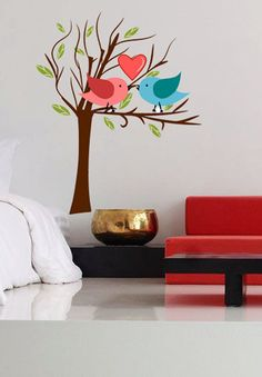 Heart Birds Love Tree Nature Animals  Full Color by uBerDecals