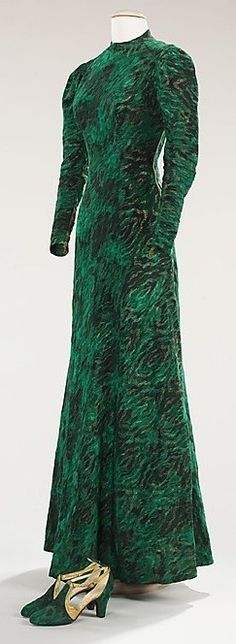 Schiaparelli Dress - 1933-35 - by Elsa Schiaparelli with matching shoes by André Perugia - @~ Mlle