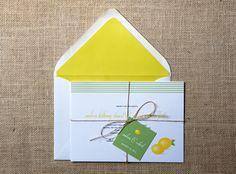 Lemon Citrus Wedding Invitations by DawnCorrespondence on Etsy, $550.00