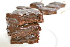 No-Bake Double Chocolate Brownie Bars [Vegan, Gluten-Free] | One Green Planet