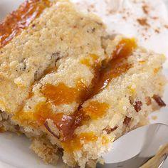 Warm Pumpkin Pudding Cake with Maple Pumpkin Butter