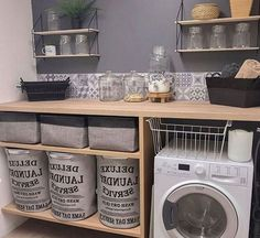 Tiny Laundry Rooms, Laundry Room Remodel, Laundy Room, 1st Apartment, Pantry Design, Happy House, Laundry Room Organization, Moving House, Home Projects