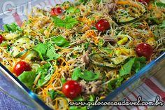 A Salada de Bifum com Legumes Assados é uma opção de #almoço leve, com baixas calorias e #SemGlúten! Garanto, vão amar!  #Receita aqui: http://www.gulosoesaudavel.com.br/2013/04/03/salada-bifum-legumes