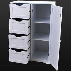 4 drawer storage unit cabinet #chest bedroom #bathroom #organiser cupboard white, View more on the LINK: http://www.zeppy.io/product/gb/2/131774618443/