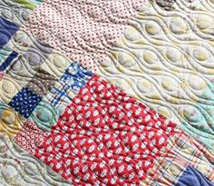 Upclose Quilting Cluck Cluck Sew- love this quilting