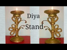 Diya Stand || Candle Holder || Room Decor || Diwali Decoration || Best out of waste || - YouTube