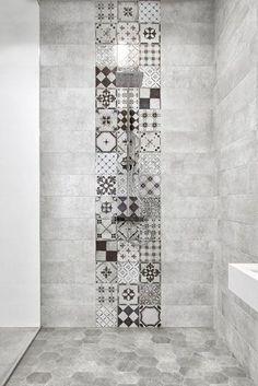 45 Best Shower Tile Ideas That Will Tranform Entire Atmosphere of Your Bathroom # Bad Inspiration, Bathroom Inspiration, Bathroom Interior, Modern Bathroom, White Bathroom, Master Bathroom, Asian Bathroom, Vanity Bathroom, Remodel Bathroom