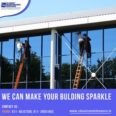 We can make your building sparkle – Classic Maintenance Services Quick contacts on 011-46107265 to clean your building at very reasonable price view more @ www.classicmaintenance.in
