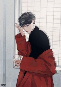 Jungkook from bts kpop fanart, jungkook fanart, anime boys, manga anime, ma Manga Anime, Manga Boy, Anime Art, Anime Boys, Fanart Bts, Jungkook Fanart, Bts Jungkook, Bts Art, Illustration