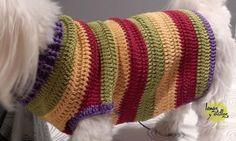 JERSEY PERRO PASO A PASO CON VÍDEO TUTORIAL   Patrones Crochet, Manualidades y Reciclado