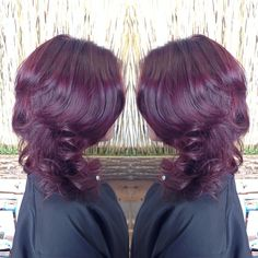 red violet/ plum hair color is beautifuL! I kinda want to go back to red/plum
