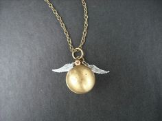 Golden snitch necklace! #HP
