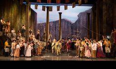 Carmen. Opera Omaha. Scenic design by Paul Shortt. 1992