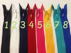 My favorite zip shop - so much choice!  24 Inch invisible zippers 25 pcs Choose colors black by ZipperShop, $21.25