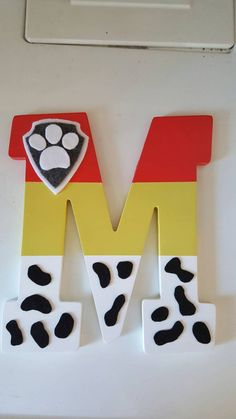 Paw Patrol letters dog letters painted letters by SugarSandCrafts