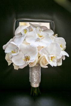 Beautiful Blooms Love Me Do Photography Phalenopsis Orchid Bouquet Crystal Bling Wrap, Crystals in Flowers Curtis Center