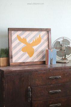 moose wood framed sign tutorial + printables